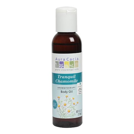 Aura Cacia Aromatherapy Body Oil, Tranquil Chamomile, 4 Fl Oz (Heartsong Aromatherapy Body Oil)