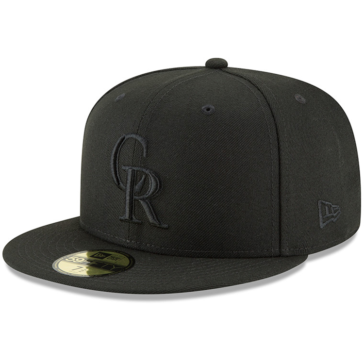 Colorado Rockies New Era Primary Logo Basic 59FIFTY Fitted Hat - Black