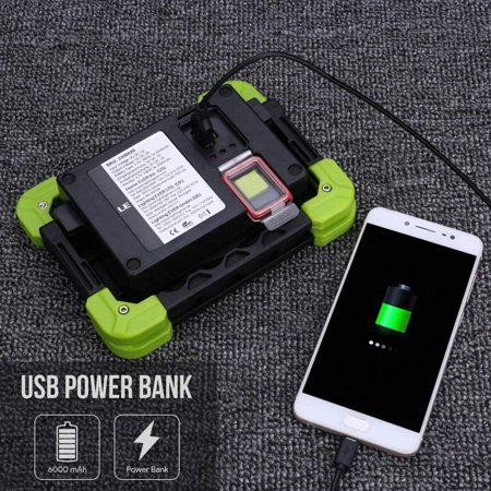 LE Portable LED Work Light, 20W, Rechargeable Outdoor Flood Light, 6000mAh Power Bank for Hiking, Working, Car - image 5 de 5