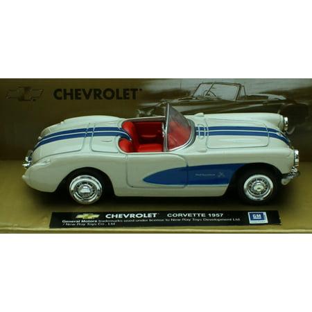 - 1:43 Scale Die-Cast White 1957 Chevrolet Corvette