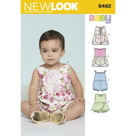 Simplicity New Look Babies Rompers.