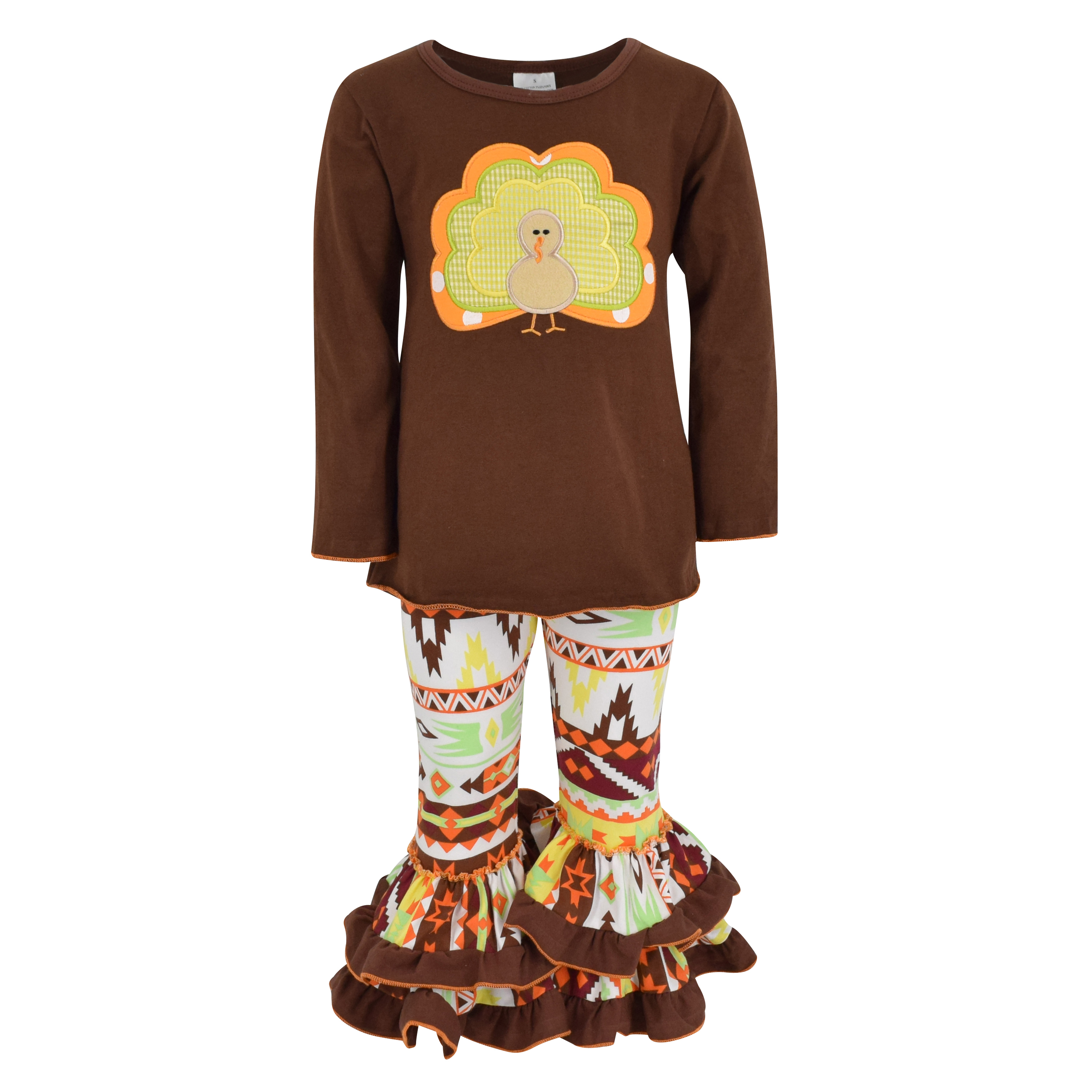 Bonnie Jean Girls Gobble Wobble Thanksgiving Dress Leggings Outfit 2t 6X New