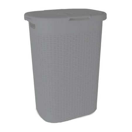 Superio Laundry Hamper Palm Luxe Collection 1.7 Bushel (Gray) ()