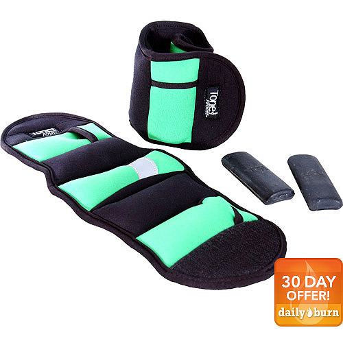 Tone Fitness 5-lb. Adjustable Pair of Ankle Weights