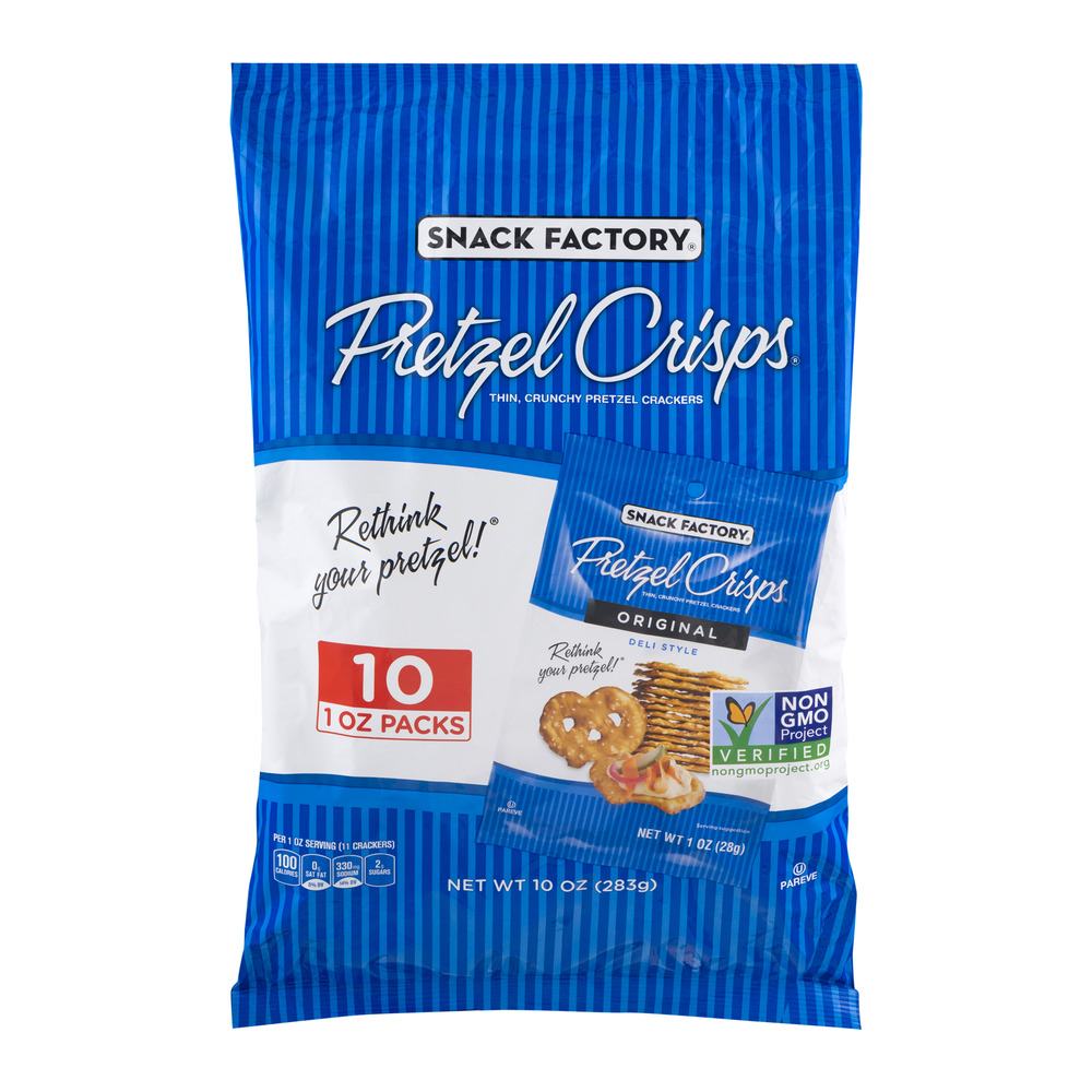 Snack Factory Pretzel Crisps Original - 10 CT