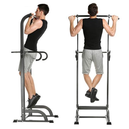 Adjustable Pull Up Bar Strength Fitness Power Tower
