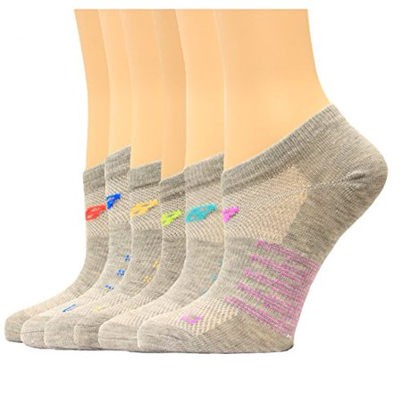 0316bfe9e5f83 New Balance - New Balance Unisex 6 Pack No Show Socks for kids - Walmart.com