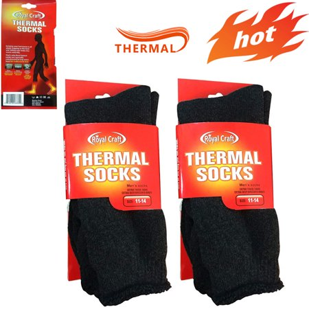 6 Pairs Men's Top Rating Winter Thermal Insulated Heated Socks For Your Feet – Boot Socks For Extreme