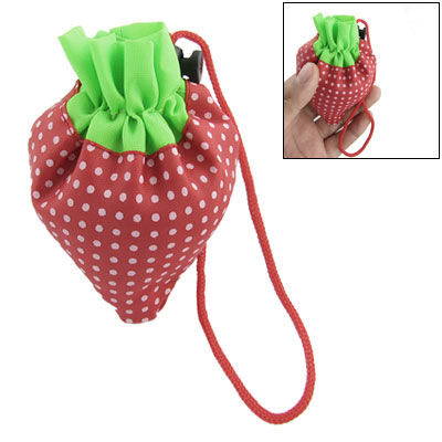 Portable Strawberry Folded Bag Reusable Shopping Tote