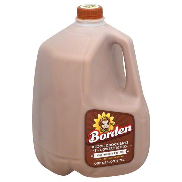 Borden 1% Low-Fat Dutch Chocolate Milk, 1 Gallon