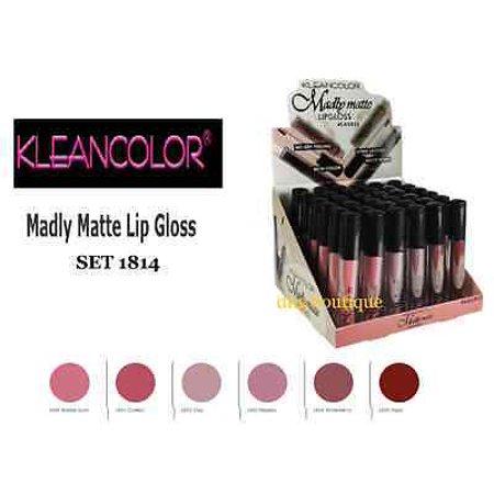 LWS LA Wholesale Store  Kleancolor MATTE Lip Gloss - Beautiful Bold and Matte Shade Lip Gloss Set