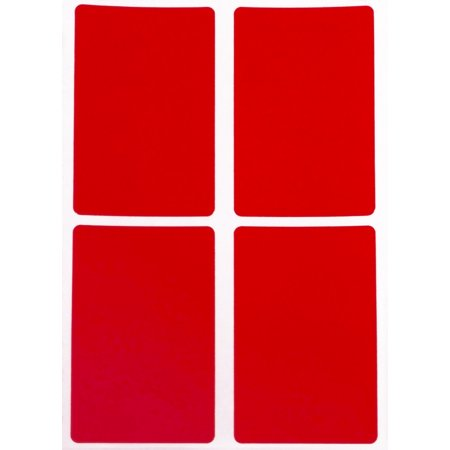 Rectangle Label 3x2 Colored Coded Labels Inventory Stickers in Red with Stronger Adhesive - 200 Pack by Royal -