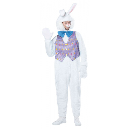 Easter Bunny Costume Rabbit April Sunday Halloween Adult Mascot Fancy Dress Gift