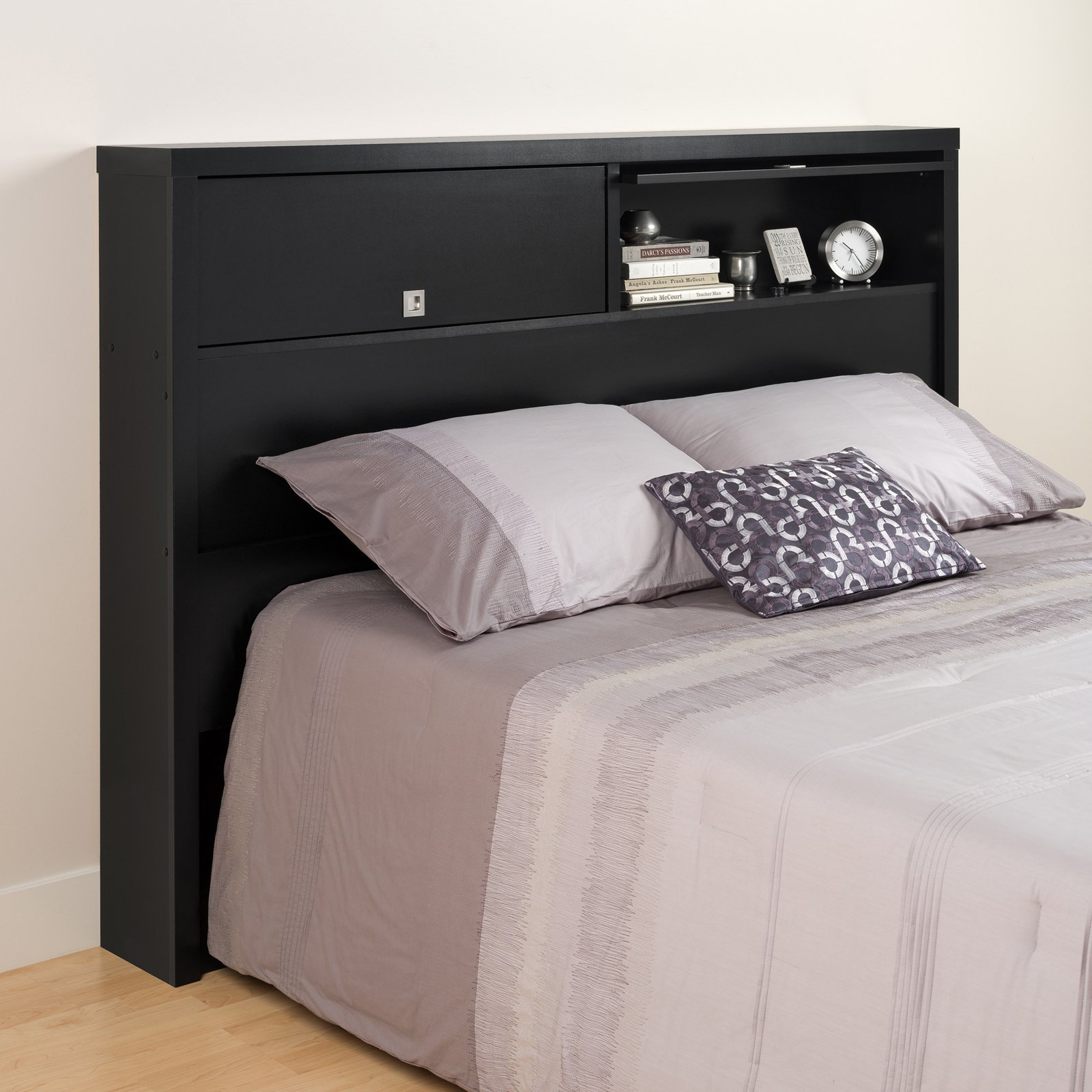 Black Series 9 Designer Full/Queen Headboard, 2-Door