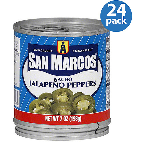 Empacadora San Marcos Nacho Jalapeno Peppers, 7 oz (Pack of 12)