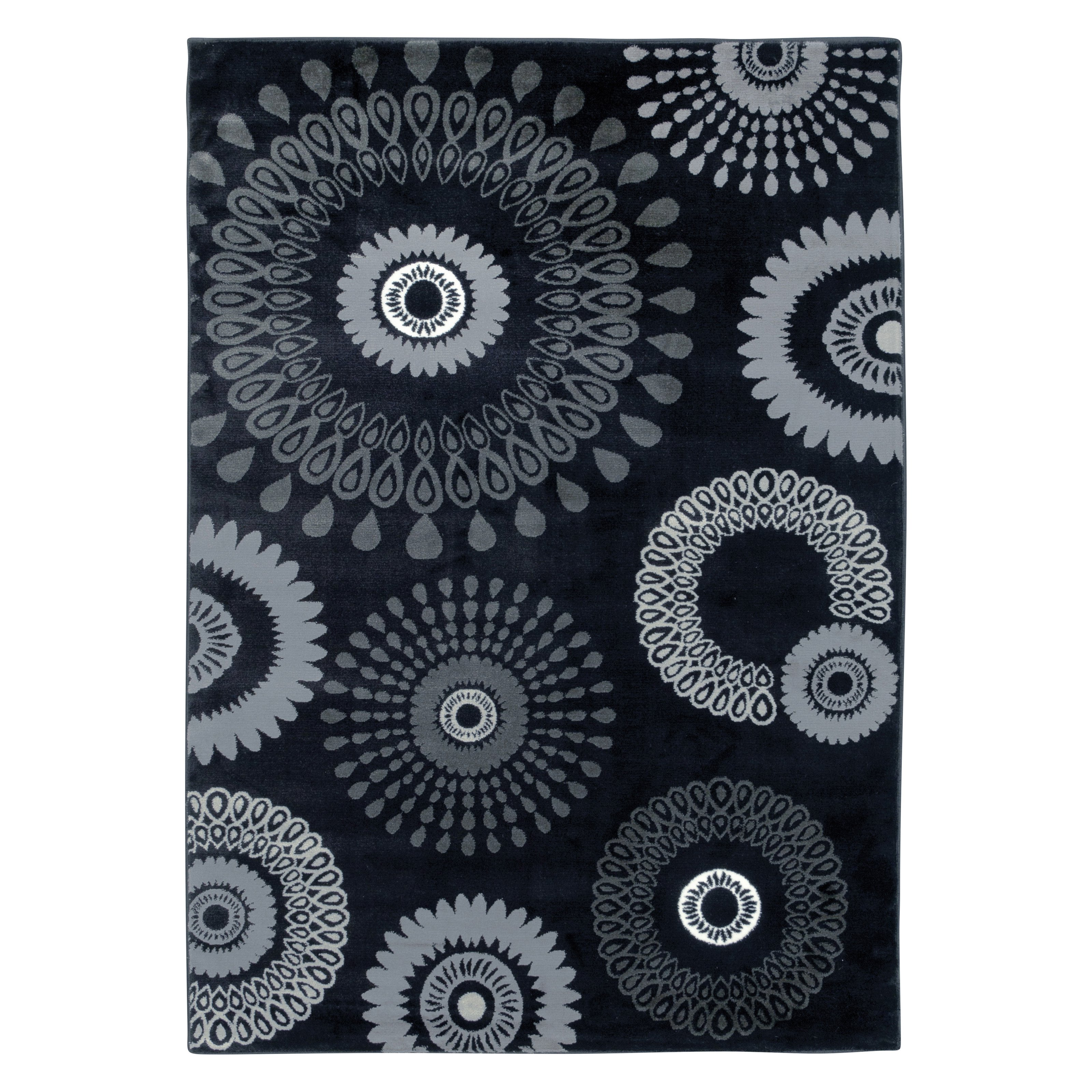 Contemporary Plush Indoor Runner Rug in Charcoal (2 ft. 9 in. L x 1 ft. 9 in. W)