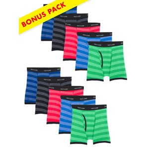 Striped Boxer Briefs, 7+3 Bonus Pack (Little Boys & Big Boys)