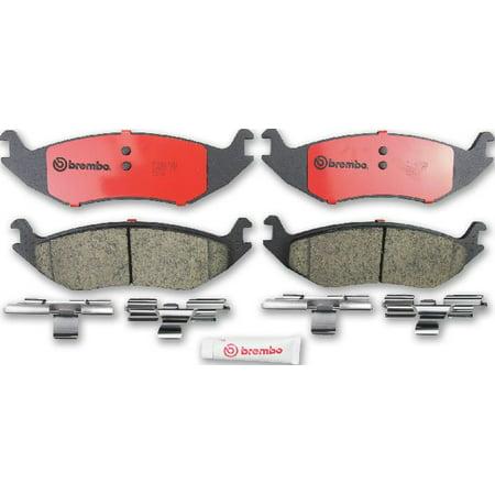 Go-Parts OE Replacement for 2003-2009 Dodge Durango Rear Disc Brake Pad Set  for Dodge Durango (Adventurer / Limited / Limited Hybrid / R/T / SE / SLT