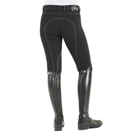Ovation Euro Melange Knee Patch Breech 32 Black