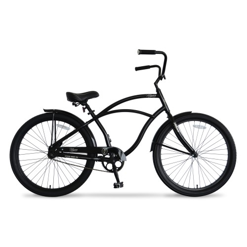 26in Hyper Mens Beach Cruiser Black