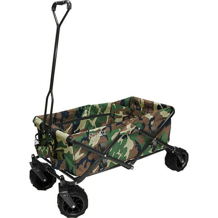 All-Terrain Folding Wagon, (Camo) - Multipurpose Cart