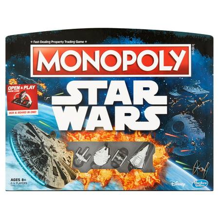 Hasbro Gaming Monopoly Disney Star Wars Box & Board Game Ages 8+ ()
