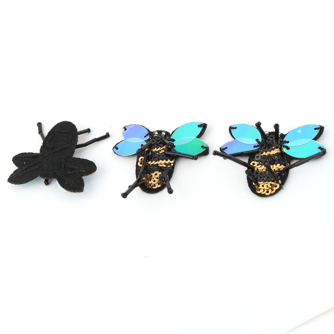 DIY Sewing Insect Design Hat Bag Clothing Patches Appliques Stickers Black 3pcs