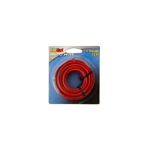 Everstart 51654-76-04 12-Gauge Red Automotive Primary Wire, 12-Feet
