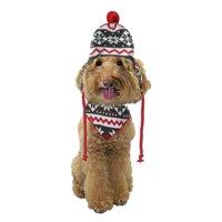 Fetchwear Red Snowflake Dog Accessory Hat Set