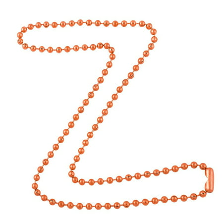 3.2mm Bright Copper Ball Chain Necklace with Extra Durable Color Protective Finish - 18 Inches