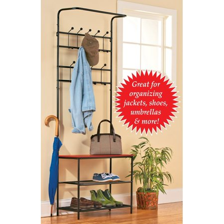Entryway Bench With Shoe Rack And Coat Rack Multi Walmart Amazing Room And Board Coat Rack
