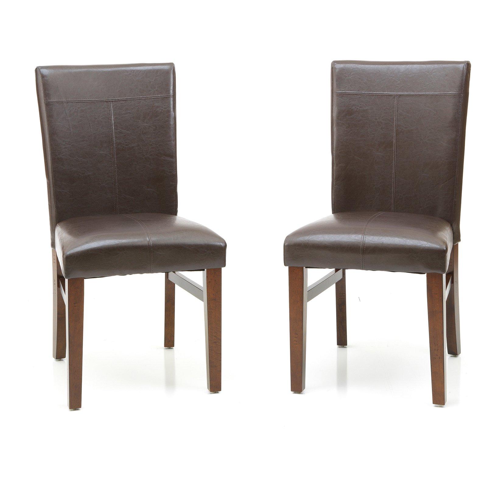 Imagio Home by Intercon Kailua Parson's Side Chair, Set of 2, Distressed Raisin