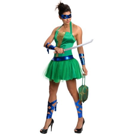 Womens Teenage Mutant Ninja Turtles Leonardo Dress Costume - Ninja Turtle Womens Costume