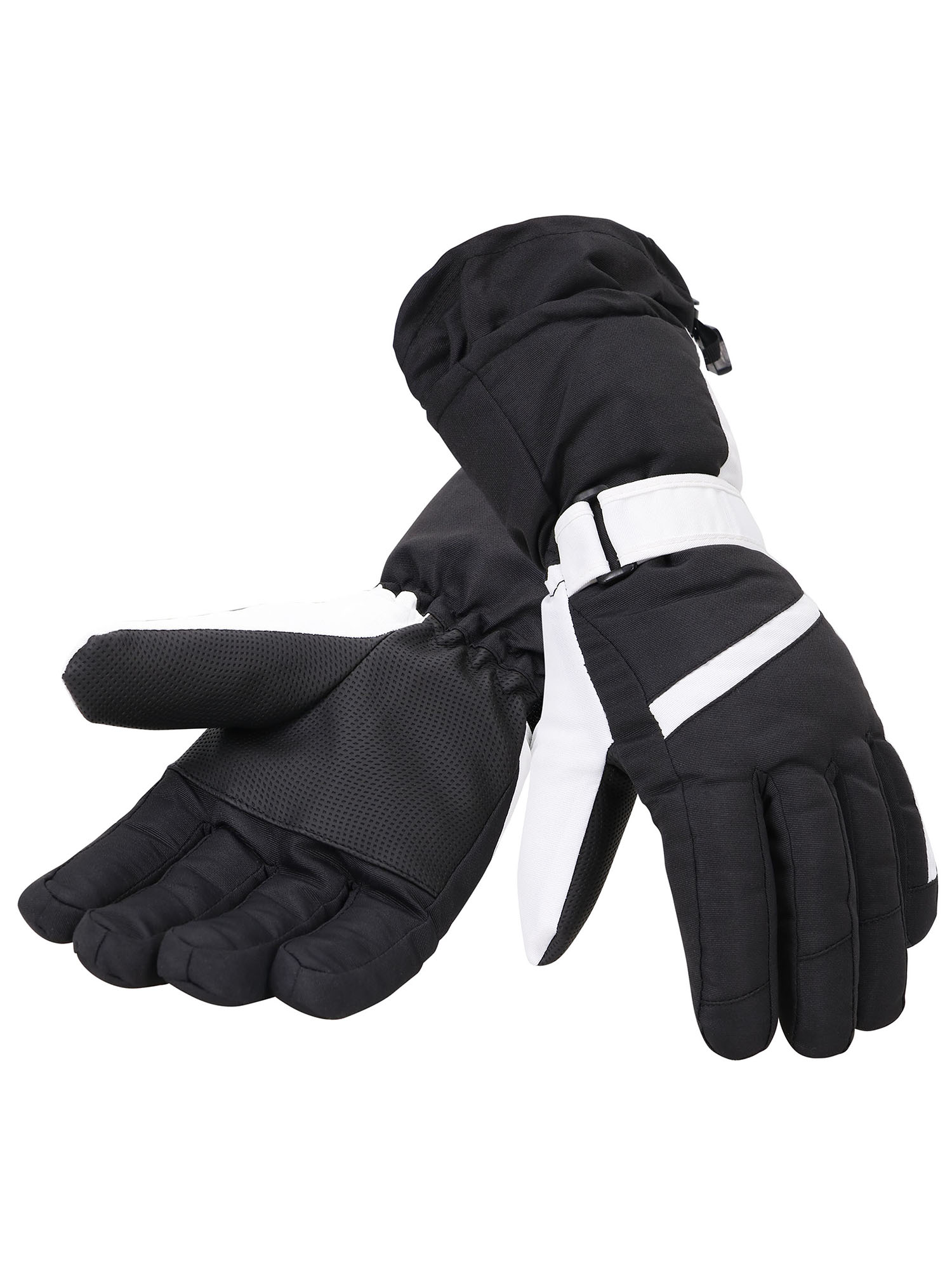 Simplicity Women's Thinsulate Lined Waterproof Outdoor Ski Gloves, S, Black