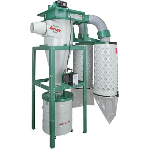 Grizzly Industrial G0601 5 HP 3-Phase Cyclone Dust Collector by Grizzly