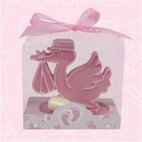 De Yi 21008-PK Baby Shower Stork and Bottle Favors in Pink