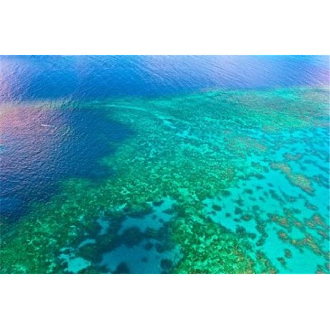 Posterazzi PDDAU01MGL0056 Aerial View of the Great Barrier Reef Queensland Australia Poster Print by Miva Stock - 26 x 17 in. - image 1 of 1