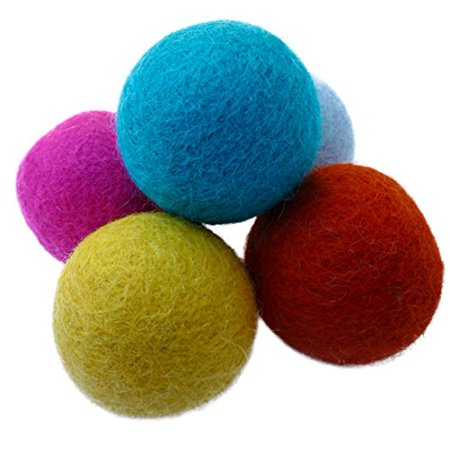 Earthtone Solutions Colorful and Unique, Handmade Wool Felt Ball Toys for Cats and Kittens ()