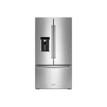 KitchenAid KRFC704FPS - Refrigerator/freezer - french style with ice & water dispenser - freestanding - width: 35.8 in - depth: 31.5 in - height: 71.9 in - 23.8 cu. ft - PrintShield stainless