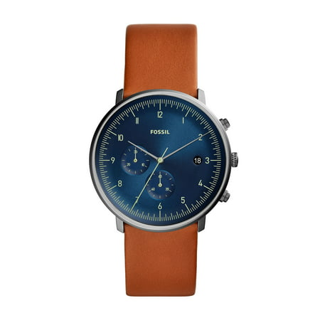 - Men's Chase Timer Leather Chronograph Watch (Style: FS5486)