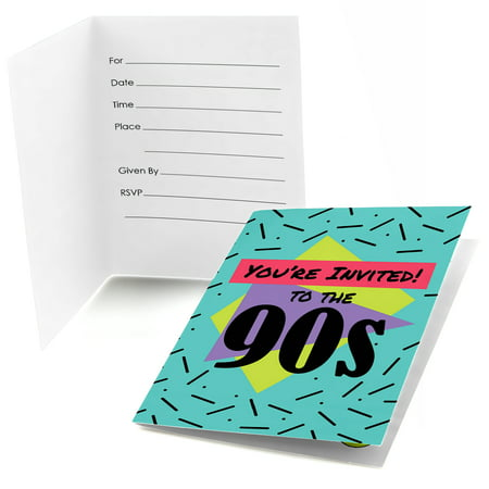 90's Throwback - Fill In 1990s Party Invitations (8 count) for $<!---->