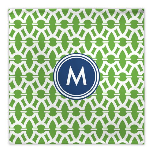 Whitney English Trellis Fabric Single Initial Napkin (Set of 4)