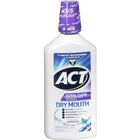 Act Total Care Dry Mouth Anticavity Fluoride Mouthwash Soothing Mint 33 80 Oz  Pack Of 2