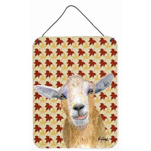 Caroline's Treasures Fall Leaves Goat by Ron Rutherford Graphic Art Plaque