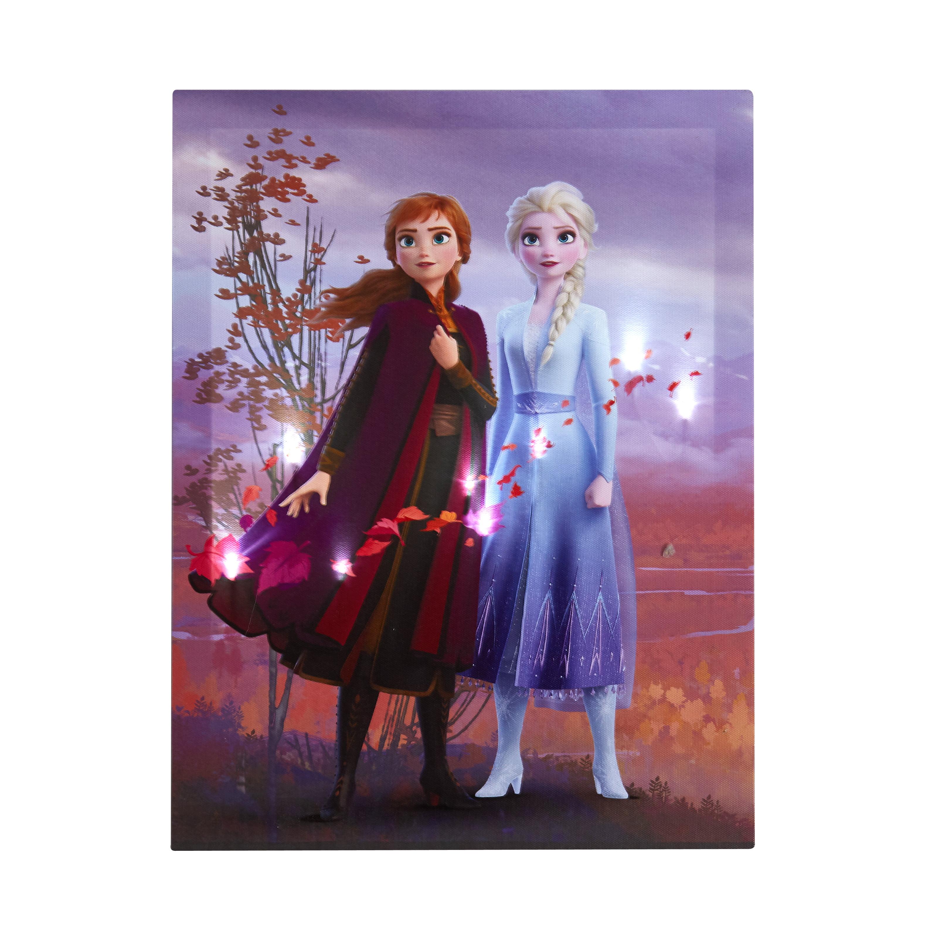 Disney Frozen 2 Led Canvas Wall Art Feat Elsa Amp Anna