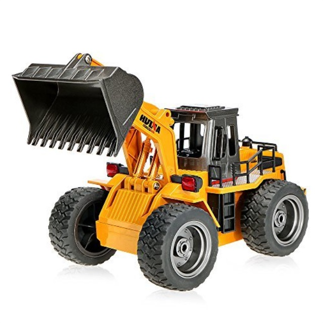 Goolsky 2.4G 6 CH RC Tractor Full Functional Front Loader Remote Control Bulldozer by