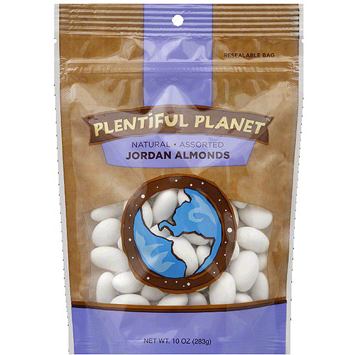 Plentiful Planet Jordan Almonds, 10 oz, (Pack of 6)