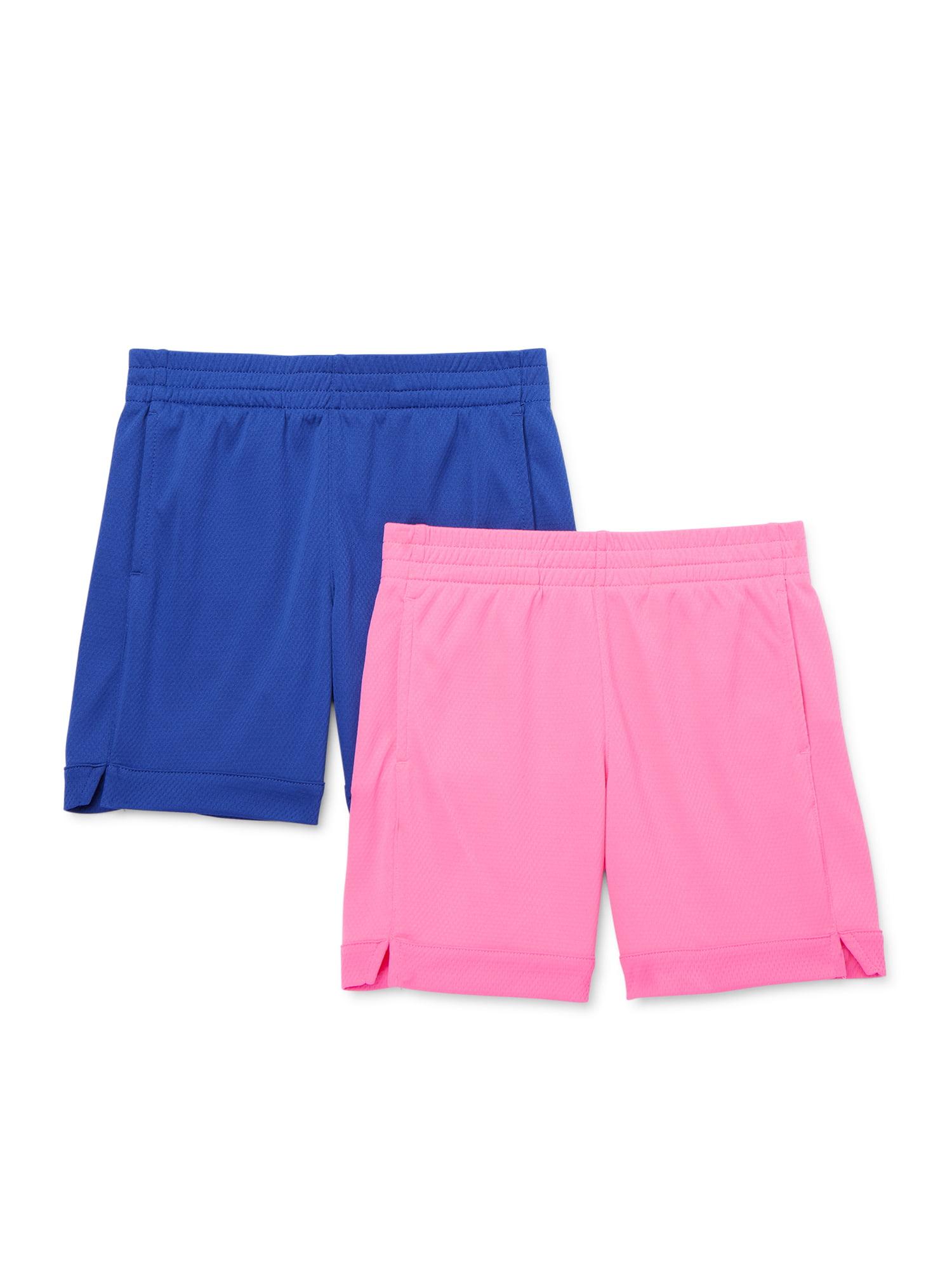 Athletic Works - Athletic Works Girls Active Mesh Soccer Shorts, 2-Pack,  Sizes 4-18 & Plus - Walmart.com - Walmart.com