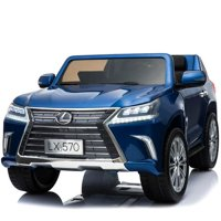 Luxury 4x4 Edition 2 Seats Lexus LX570 2X12V  Kids Ride on Car, Battery Powered Toy with Doors, Music, Lights,Rubber Wheels, Leather Seat, Remote