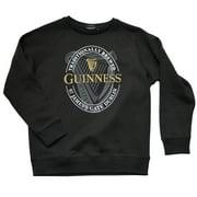 Guinness Men's Irish Crew Neck Pullover Style Black Sweatshirt -Guinness Logo Front